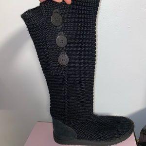 Crocheted black knee high Uggs- 7
